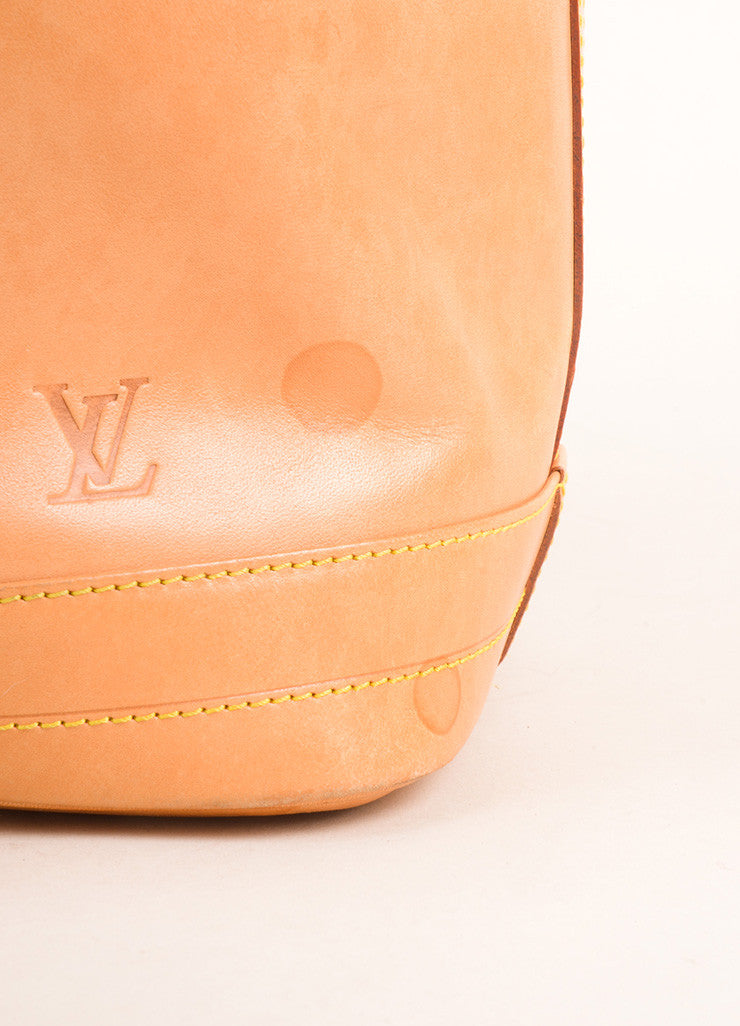 "Louis Vuitton Tan Vachetta Leather ""Noe"" Large Bucket Bag Detail 2"