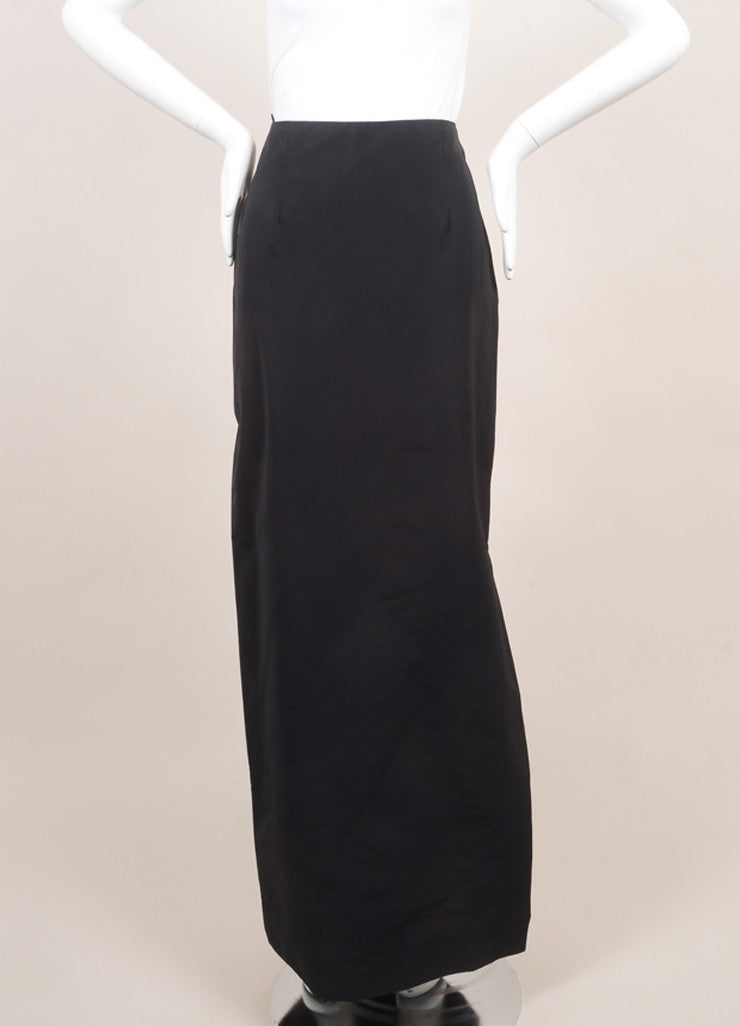 Rosie Assoulin New With Tags Black Floor Length Maxi Skirt Frontview