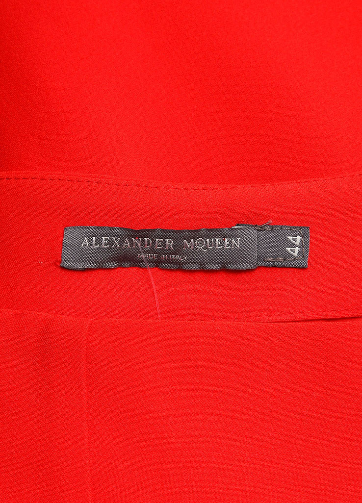 Alexander McQueen New With Tags Red Crepe Ombre Pencil Skirt Brand