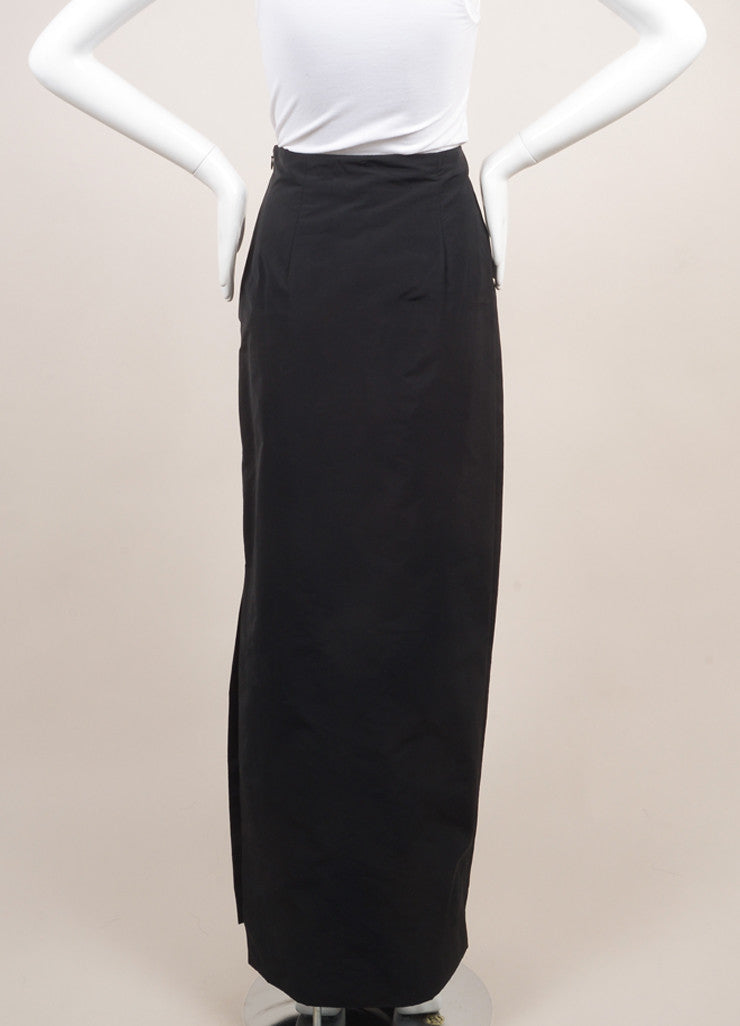 Rosie Assoulin New With Tags Black Floor Length Maxi Skirt Backview