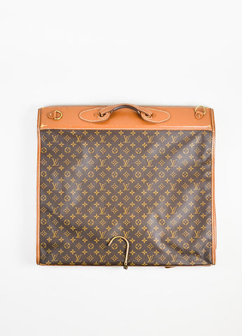 Brown Louis Vuitton The French Luggage Company Canvas Garment Bag Back