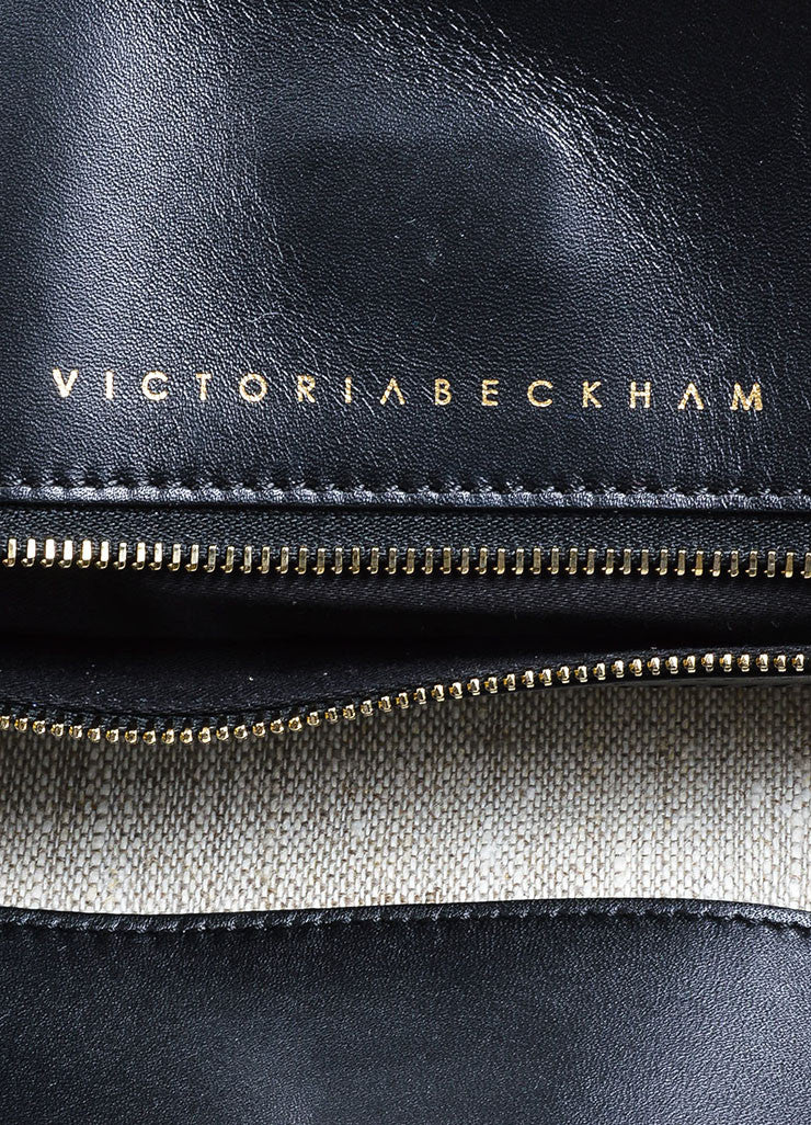 "Black ̴å«?ÌÎÌÏVictoria Beckham Leather Foldover ""Talullah"" Large Clutch Bag Brand"