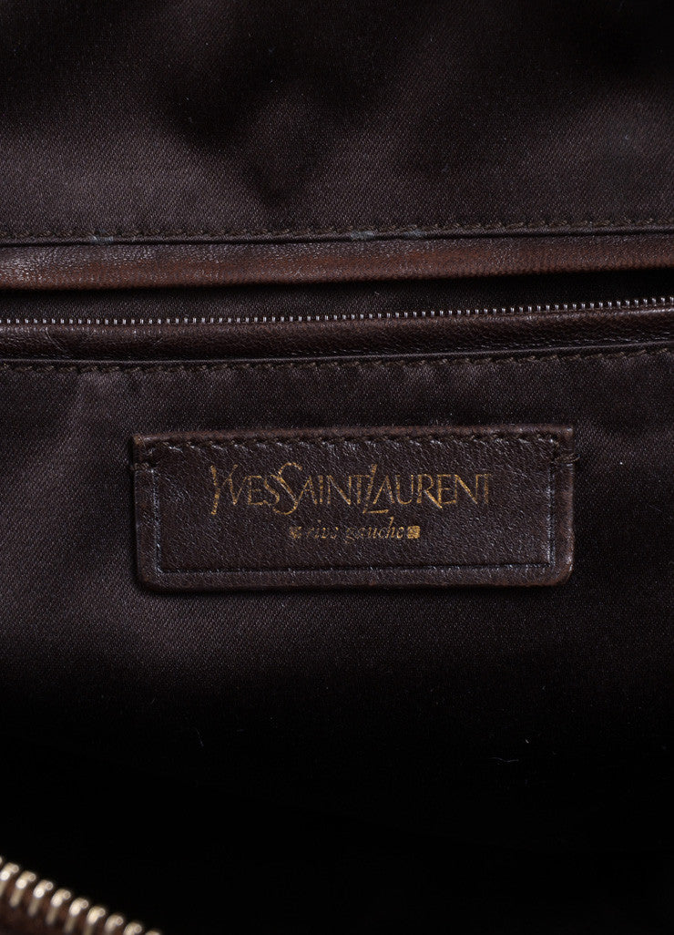 "Yves Saint Laurent Brown Leather ""Muse"" Shoulder Bag Brand"