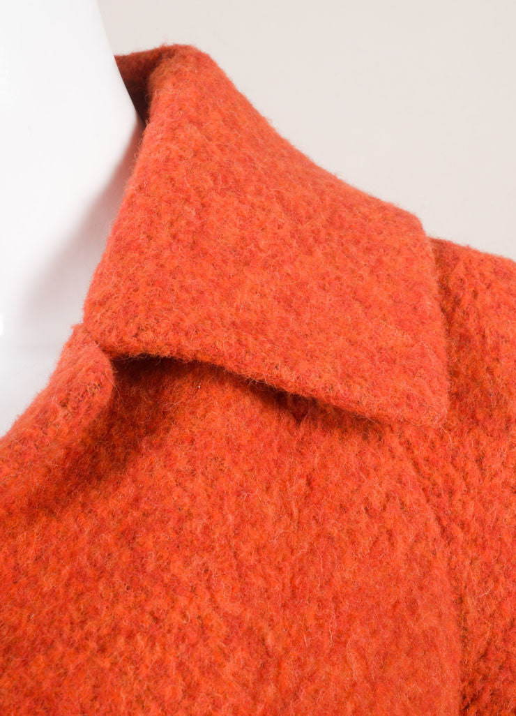 Akris New With Tags Red Alpaca Short Swing Jacket Detail
