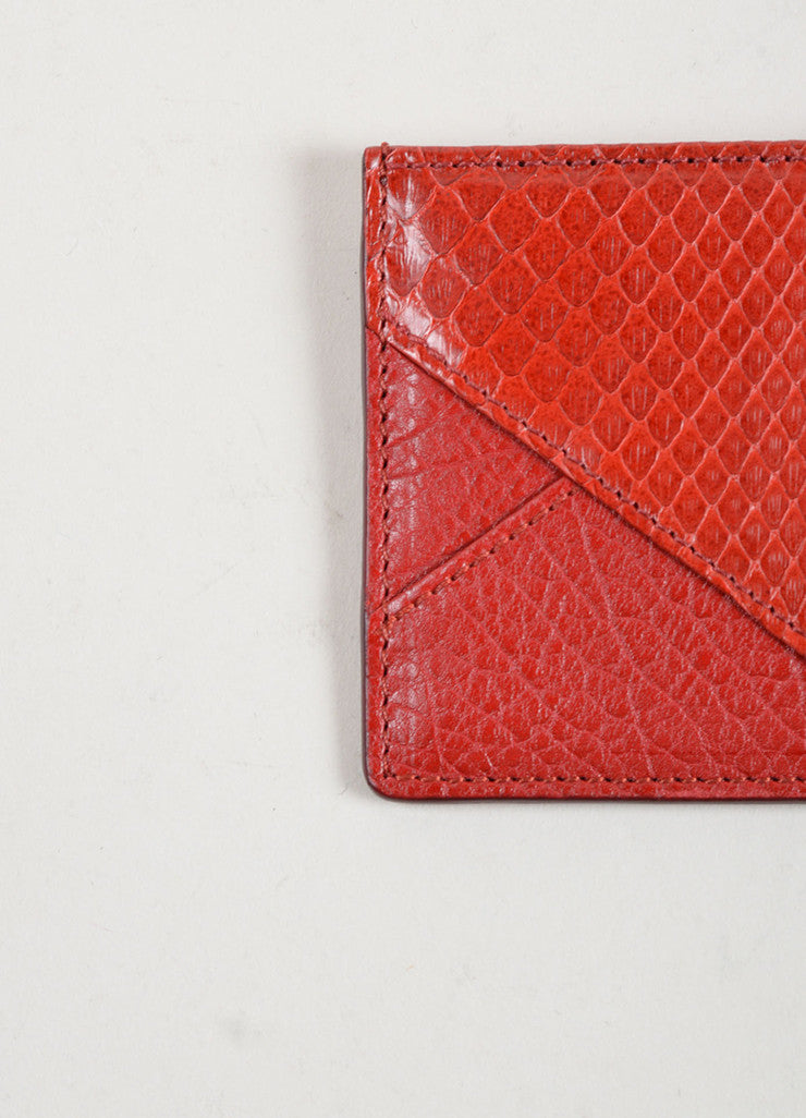 Chloe Red Python Leather Credit Card Holder Detail