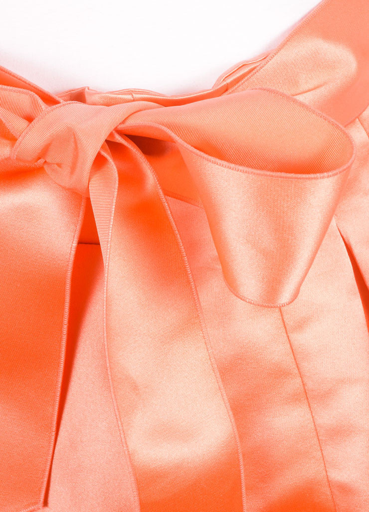 Christian Dior Coral Silk Full Ball Skirt Detail