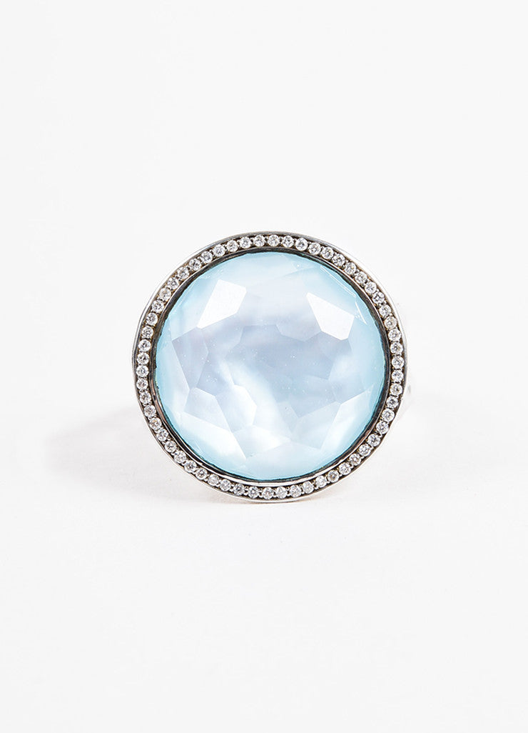 Sterling Silver Ippolita Diamond Blue Topaz 'Lollipop' Ring Front 2