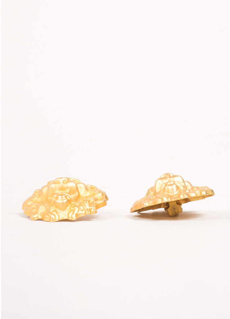 Misia Gold Toned Lion Earrings Sideview