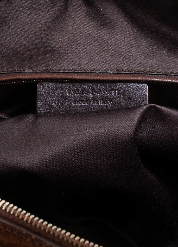 "Yves Saint Laurent Brown Leather ""Muse"" Shoulder Bag Serial"