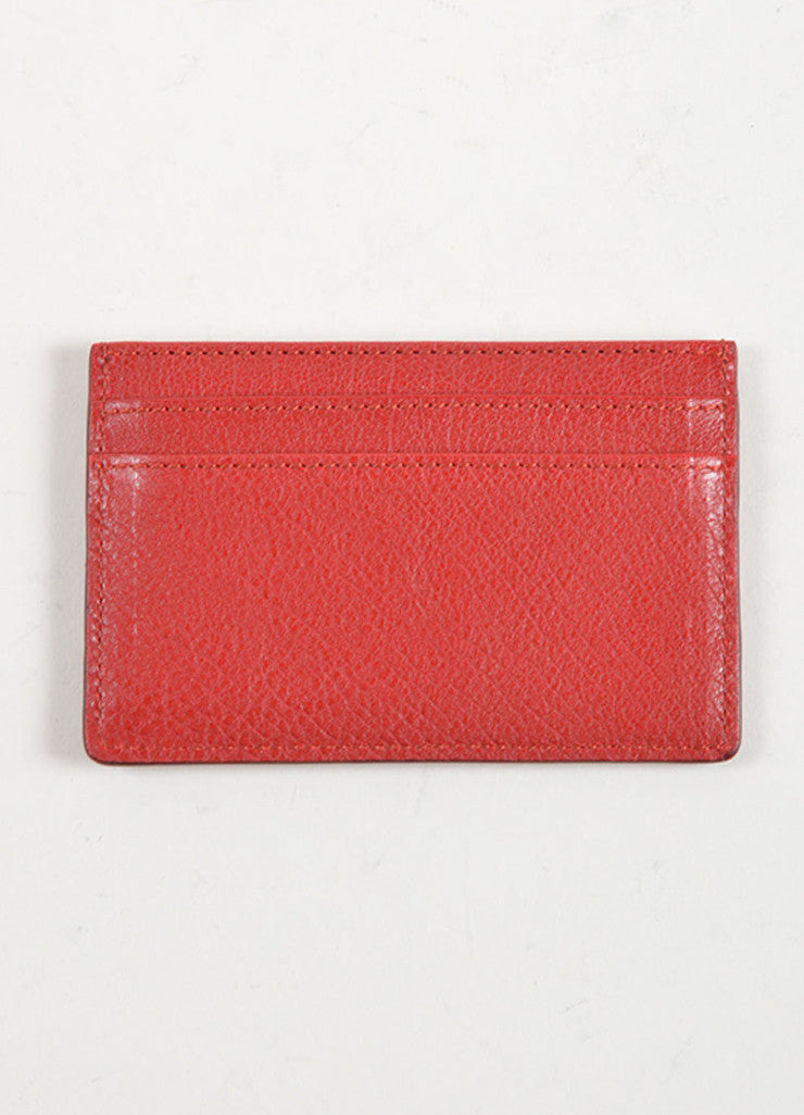 Chloe Red Python Leather Credit Card Holder Backview