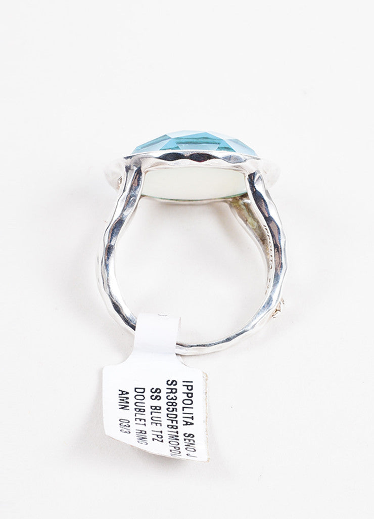 Sterling Silver Ippolita Diamond Blue Topaz 'Lollipop' Ring Profile