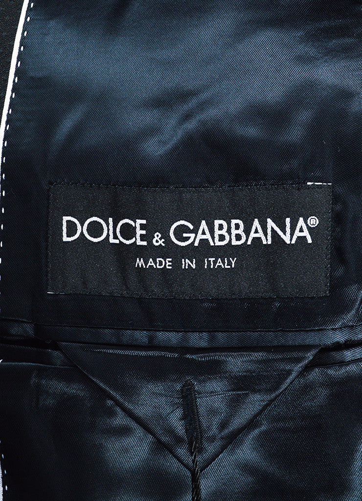 Men's Dolce & Gabbana Black Diamond Patterned Evening Jacket Brand