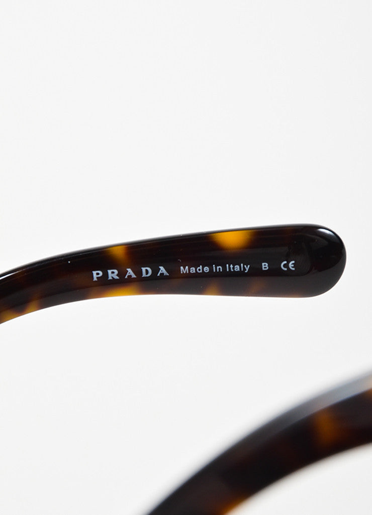 "Brown Prada Tortoise Frame Square Lenses ""Baroque"" Sunglasses Brand"