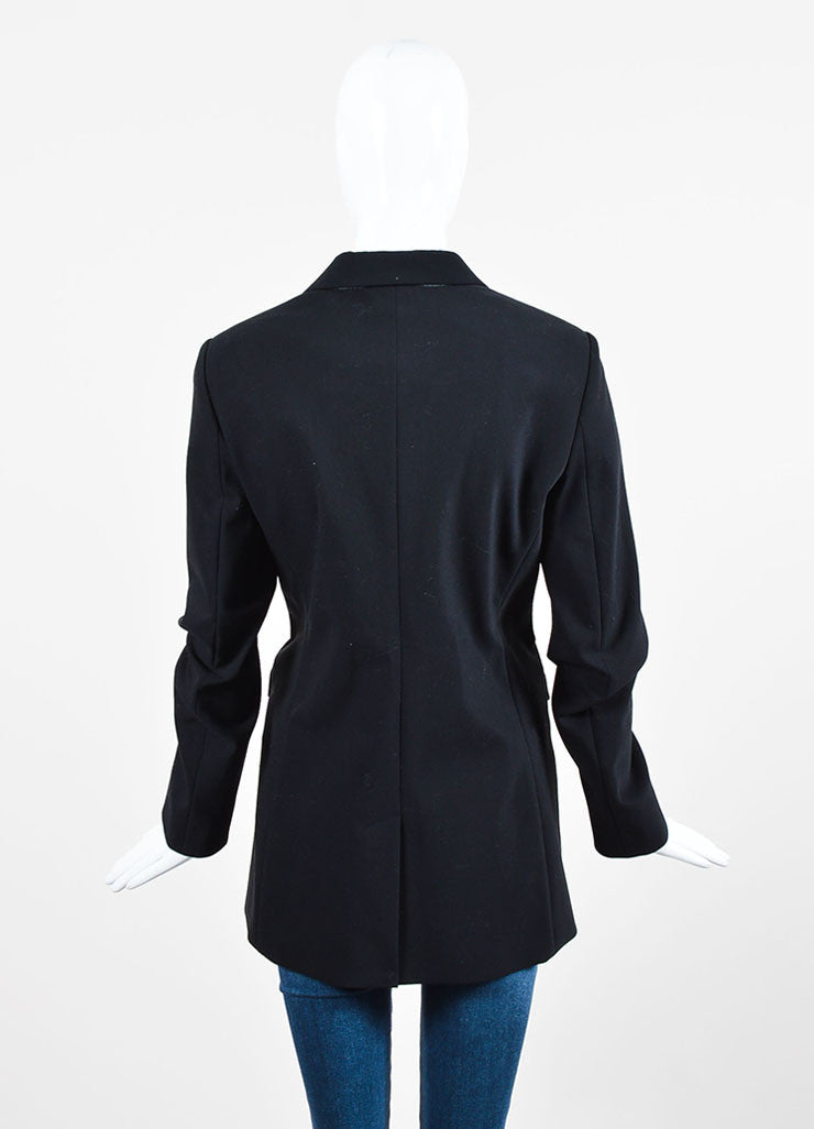 "The Row Black Cotton Wool ""Pliner"" Two Button Blazer Jacket Backview"