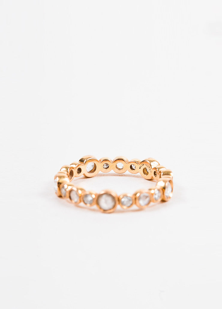 "Tiffany & Co. 18K Rose Gold and Diamond ""Cobblestone"" Ring Backview"