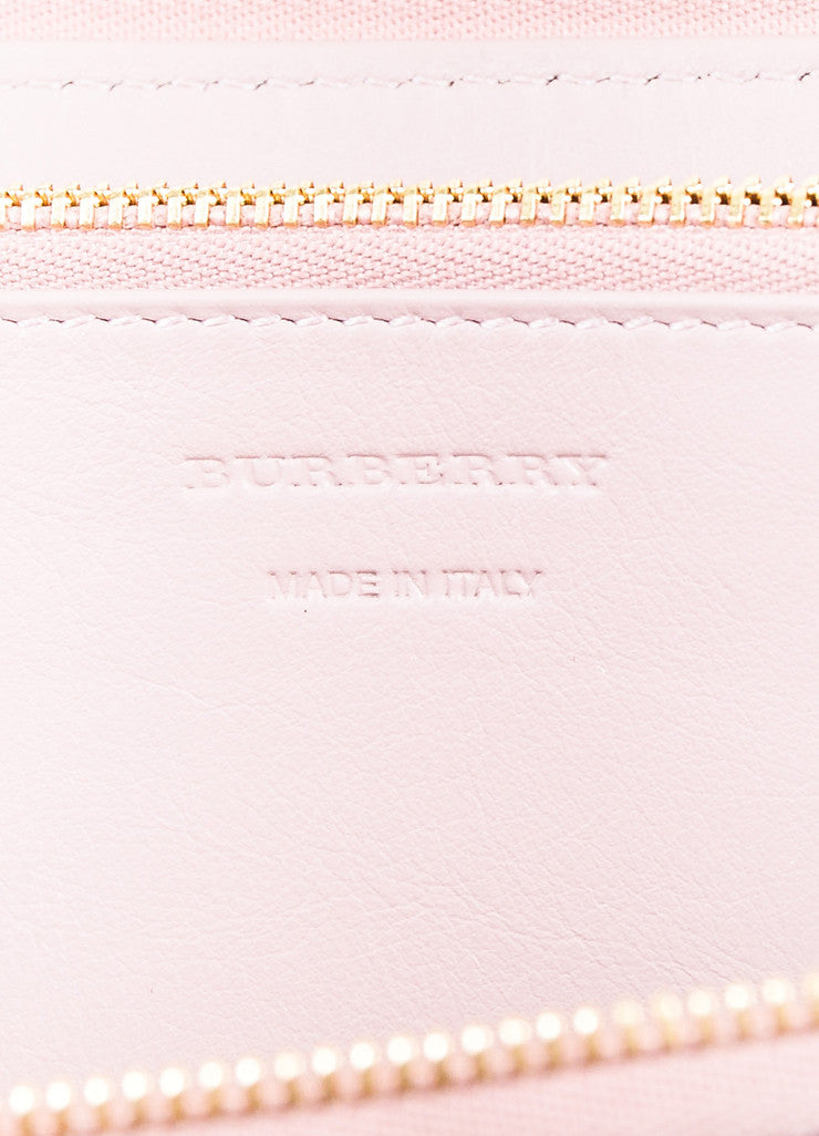 "Burberry Pink and Multicolor Leather Plaid ""Elmore House Check Derby"" Wallet Brand"