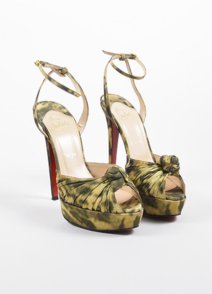 "Christian Louboutin Leopard ""Greissimo Madagascar"" Heels Frontview"