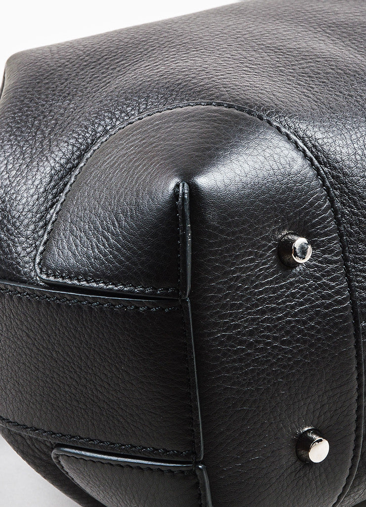 "Givenchy Black Grained Leather Small ""Lucrezia"" Two Way Bucket Bag Detail"