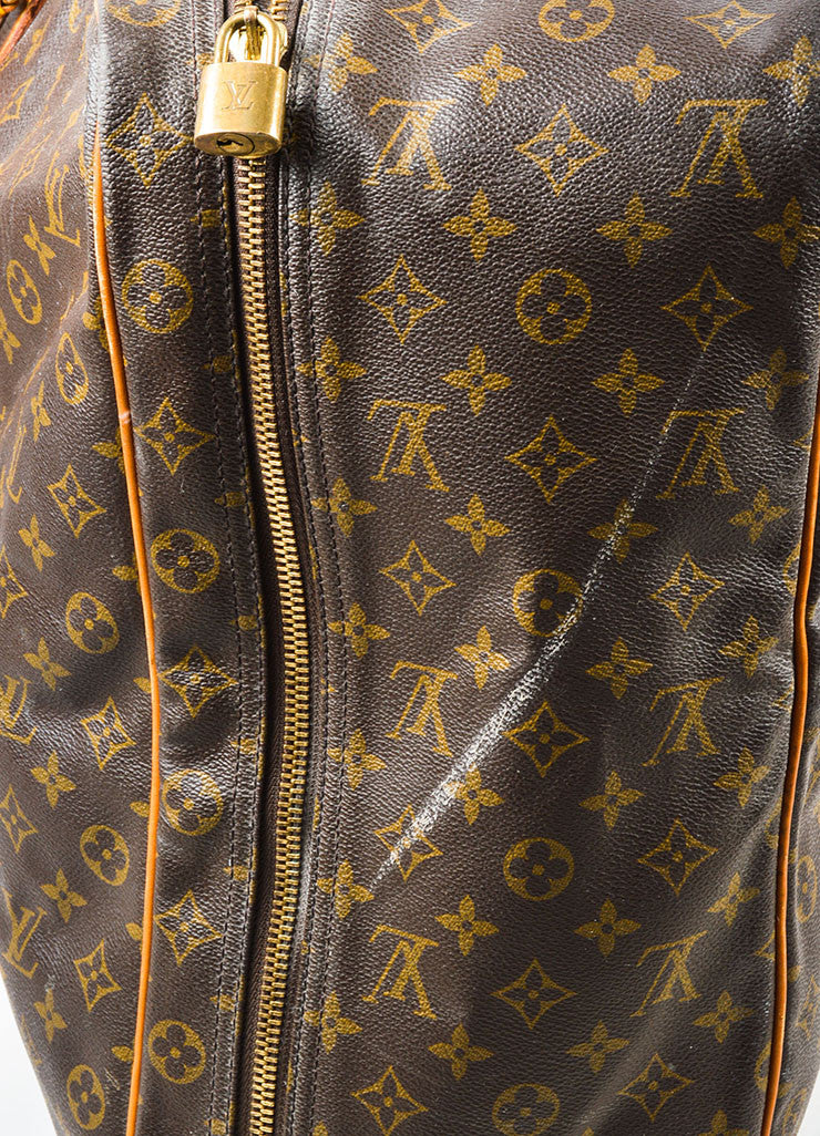"Louis Vuitton Brown and Tan Monogram Canvas ""Sirius 60"" Suitcase Luggage"