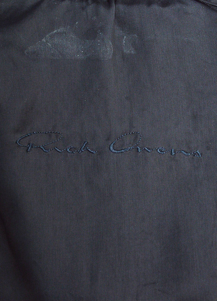 "Black Rick Owens Leather ""Salon"" Trench Coat Brand"