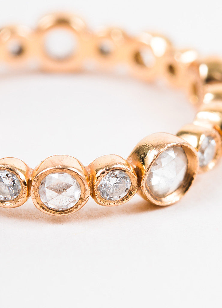 "Tiffany & Co. 18K Rose Gold and Diamond ""Cobblestone"" Ring Detail"