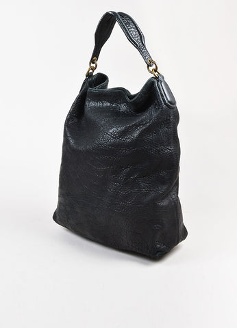 "Black Alexander Wang Pebble Leather Studded ""Darcy Tote Bag Front"