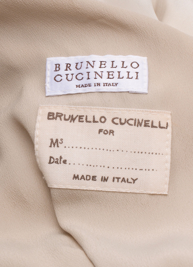 Brunello Cucinelli New With Tags Grey Suede Draped Wrap Long Jacket Brand