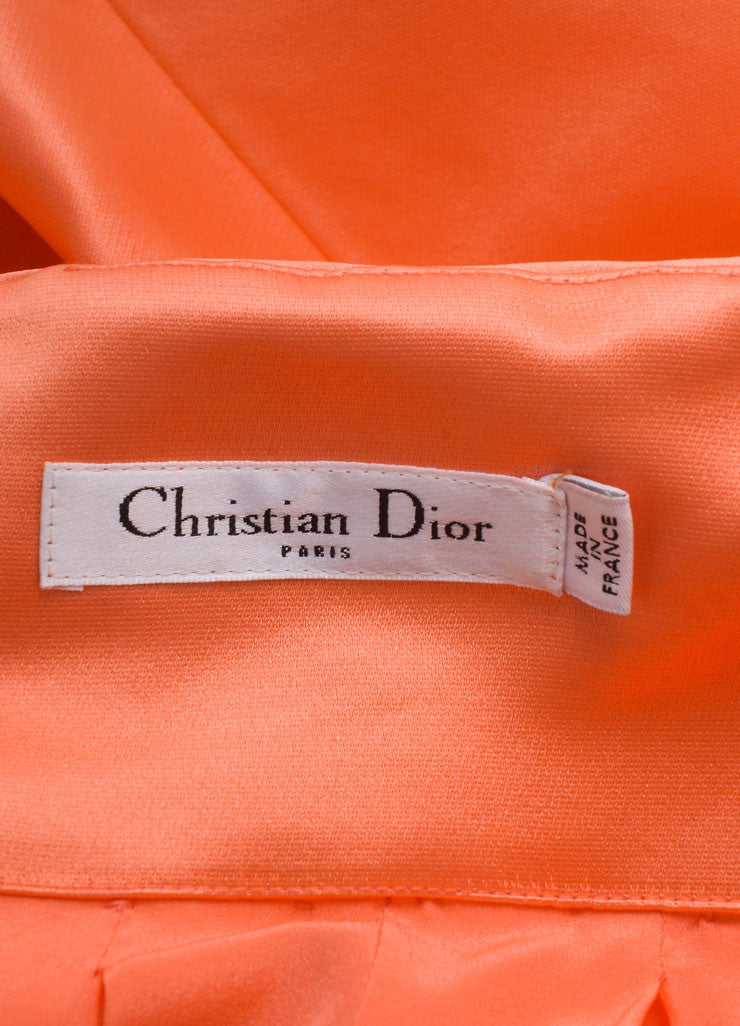 Christian Dior Coral Silk Full Ball Skirt Brand