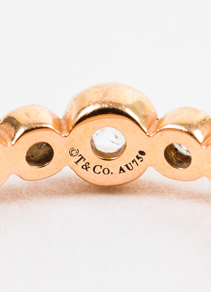 "Tiffany & Co. 18K Rose Gold and Diamond ""Cobblestone"" Ring Brand"