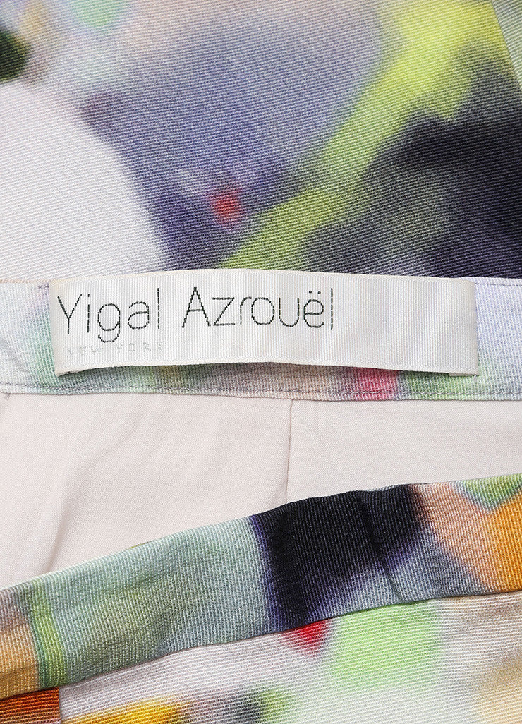 Yigal Azrouel Multicolor Cotton Blend Watercolor Woven Pencil Skirt Brand
