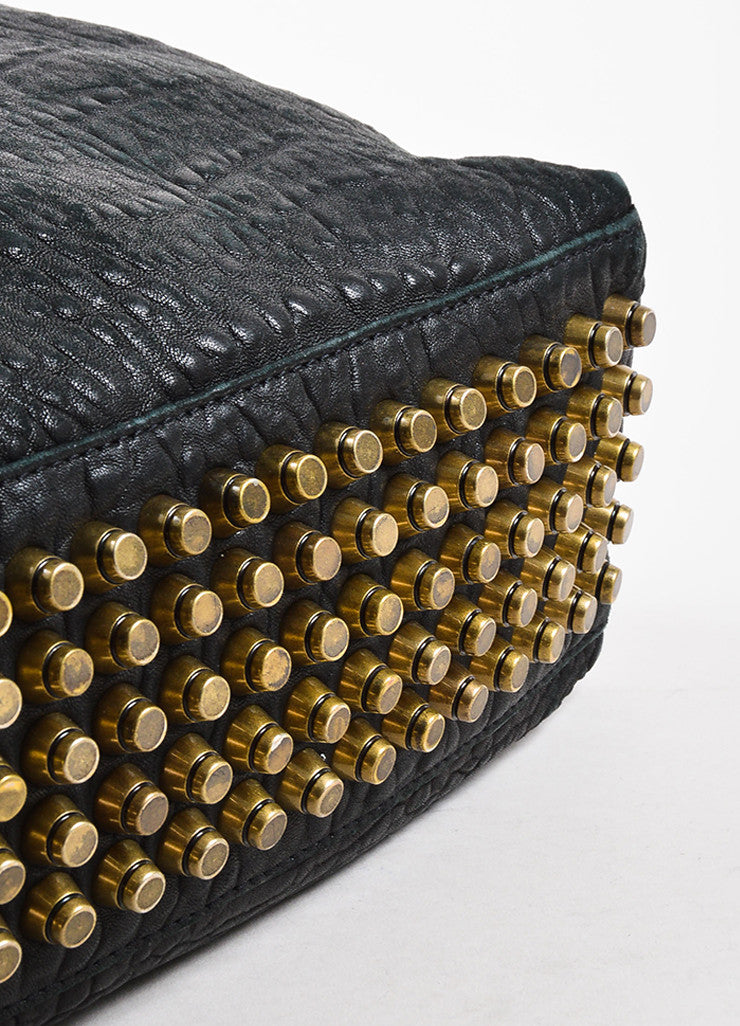 "Black Alexander Wang Pebble Leather Studded ""Darcy Tote Bag Detail"