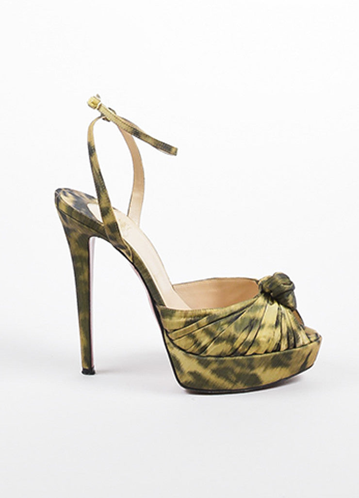 "Christian Louboutin Leopard ""Greissimo Madagascar"" Heels Sideview"