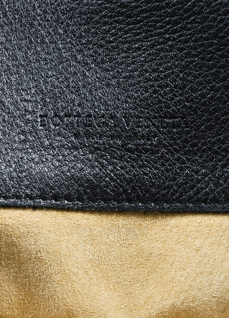 Black Bottega Veneta Leather Intrecciao Weave Detail Tote Bag Brand