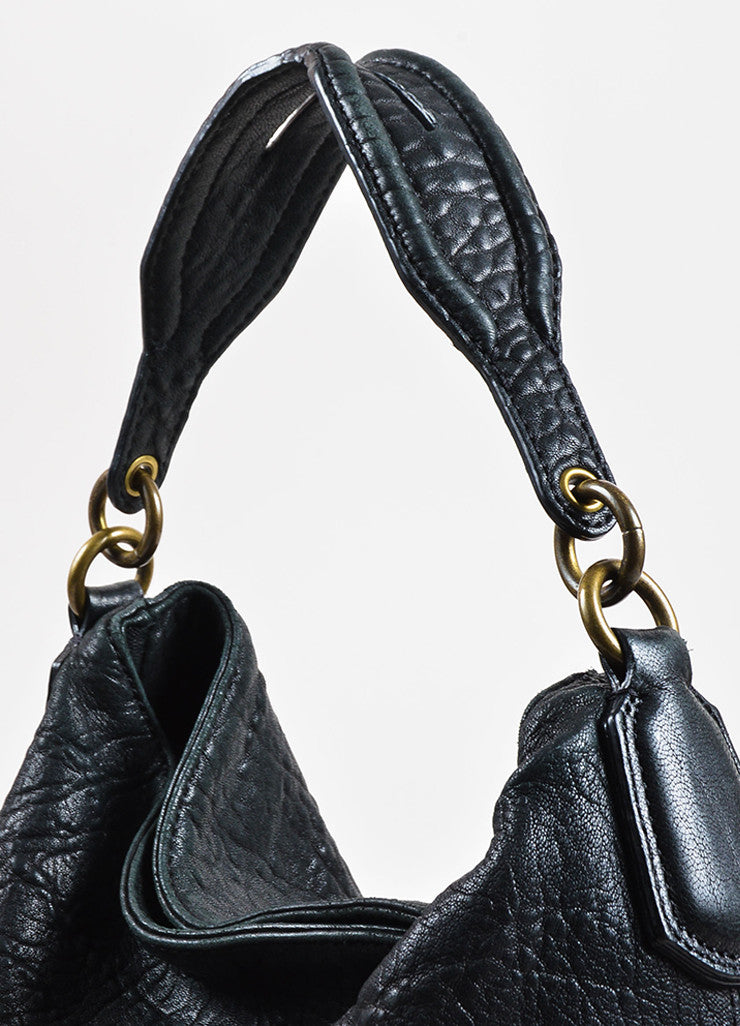 "Black Alexander Wang Pebble Leather Studded ""Darcy Tote Bag Detail 3"