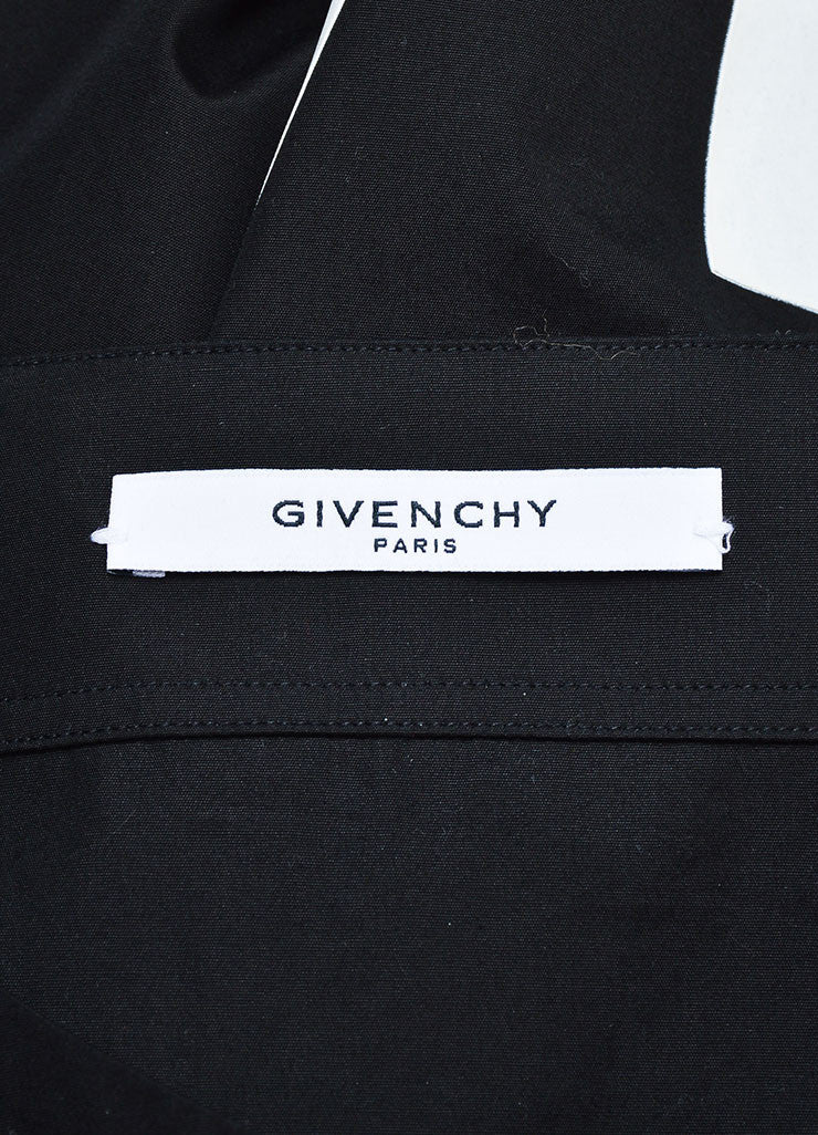 "Men's Black White Givenchy Number ""17"" Button Down Baseball Shirt Brand"