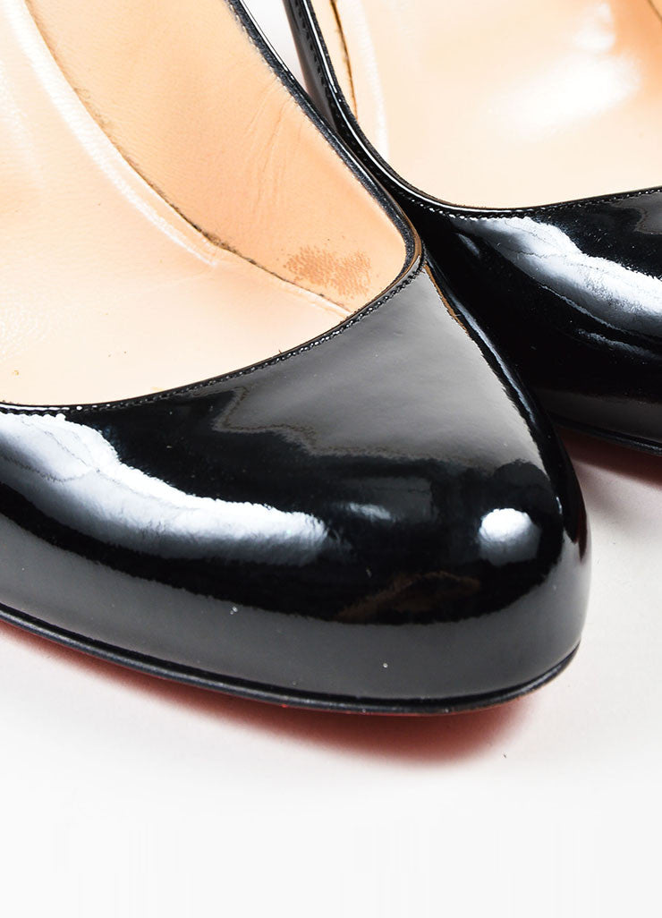 "Black Christian Louboutin Patent Leather ""Simple"" Pumps Detail"