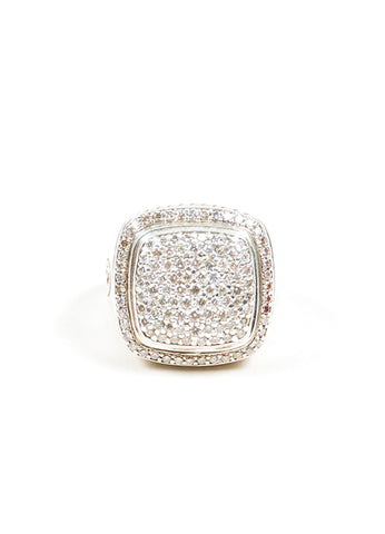 Sterling Silver David Yurman Pave Diamond Albion Ring Front