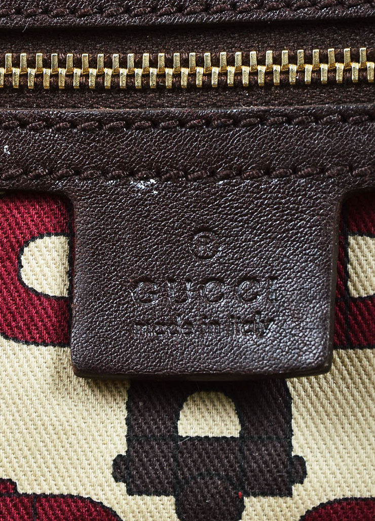 "Gucci Brown 'GG' Embossed Guccissima Leather Braided Handle ""Pelham"" Tote Bag Brand"