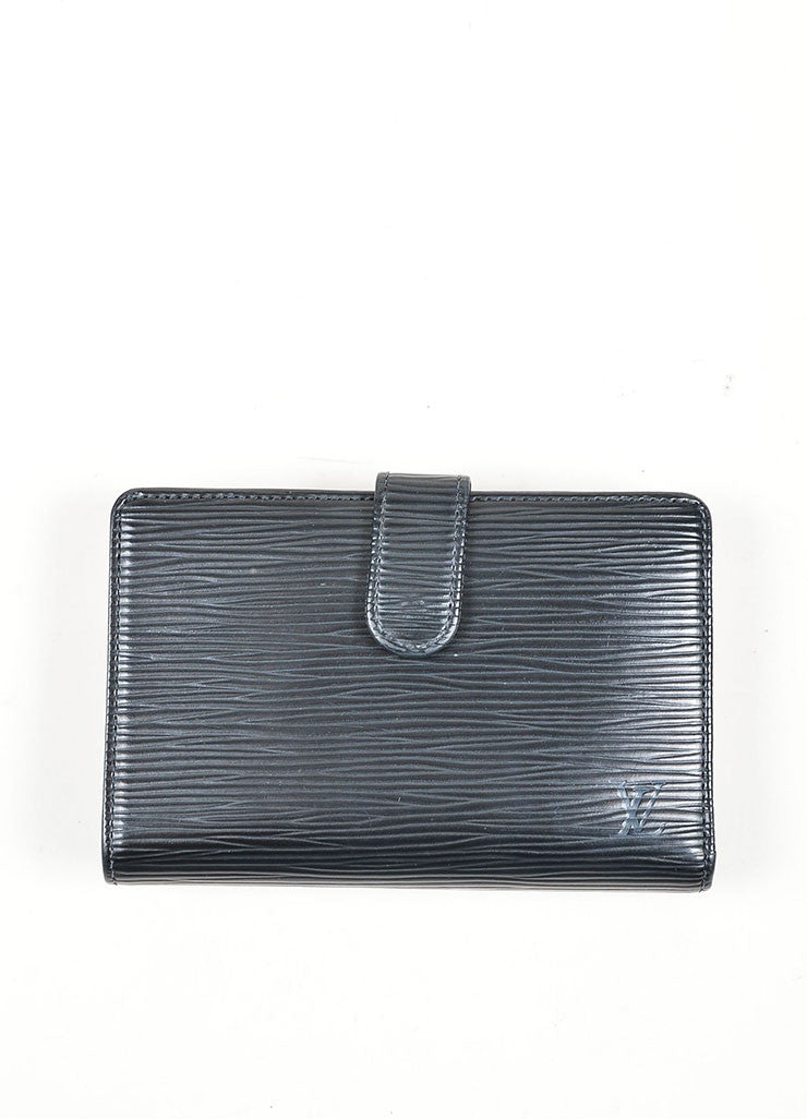 Black Louis Vuitton Epi Leather French Purse Wallet Frontview