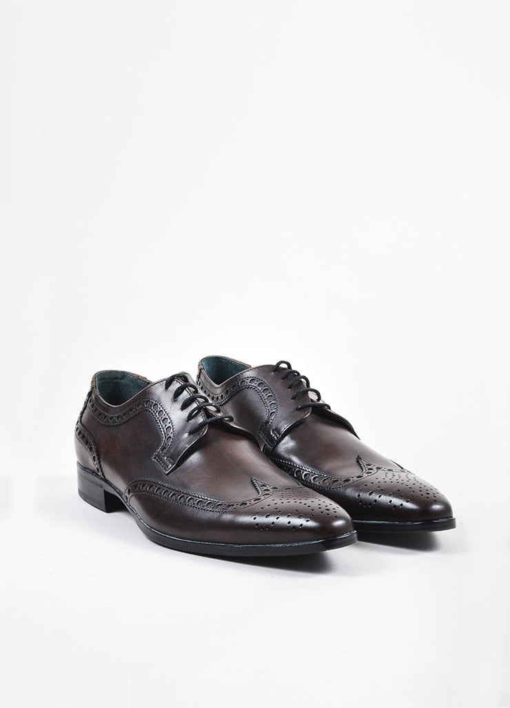 Men's Dolce & Gabbana Derby Lace Up Wingtips Brogues Frontview