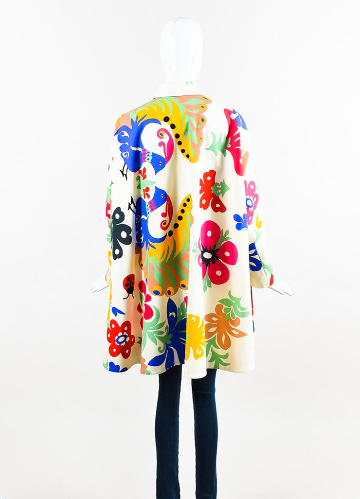 Multicolor VICTORIA Victoria Beckham Canvas Floral Jacket Back