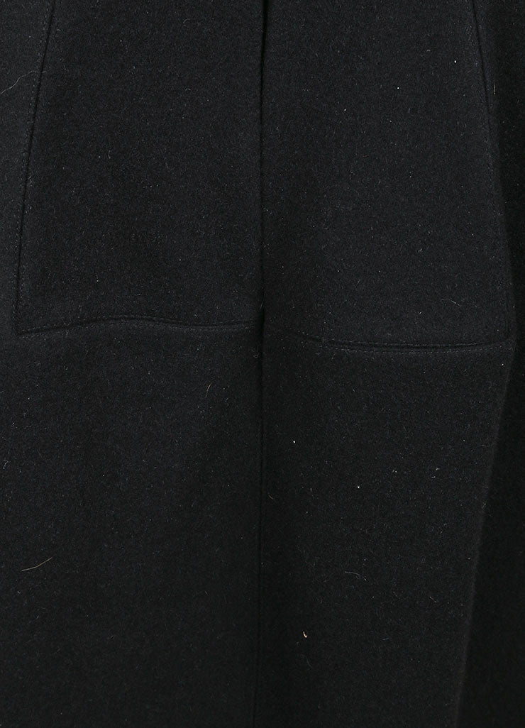 Alaia Black Wool and Cashmere High Waisted Structural Skirt Detail