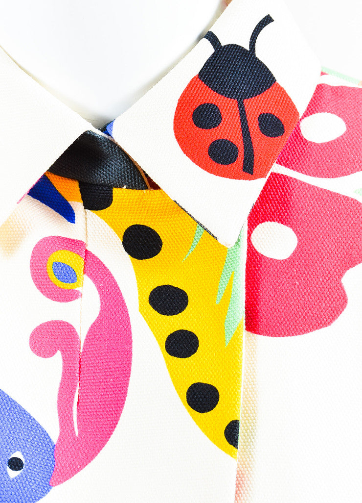 Multicolor VICTORIA Victoria Beckham Canvas Floral Jacket Detail