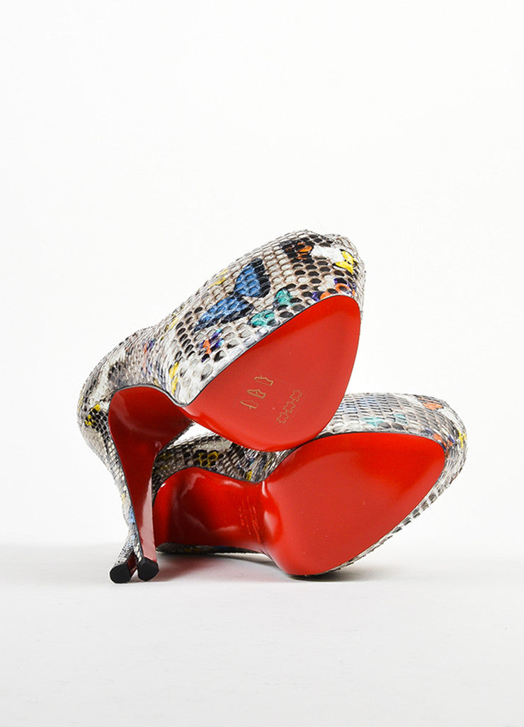 "Christian Louboutin Multicolor Snakeskin ""Highness 160"" Pumps Outsoles"