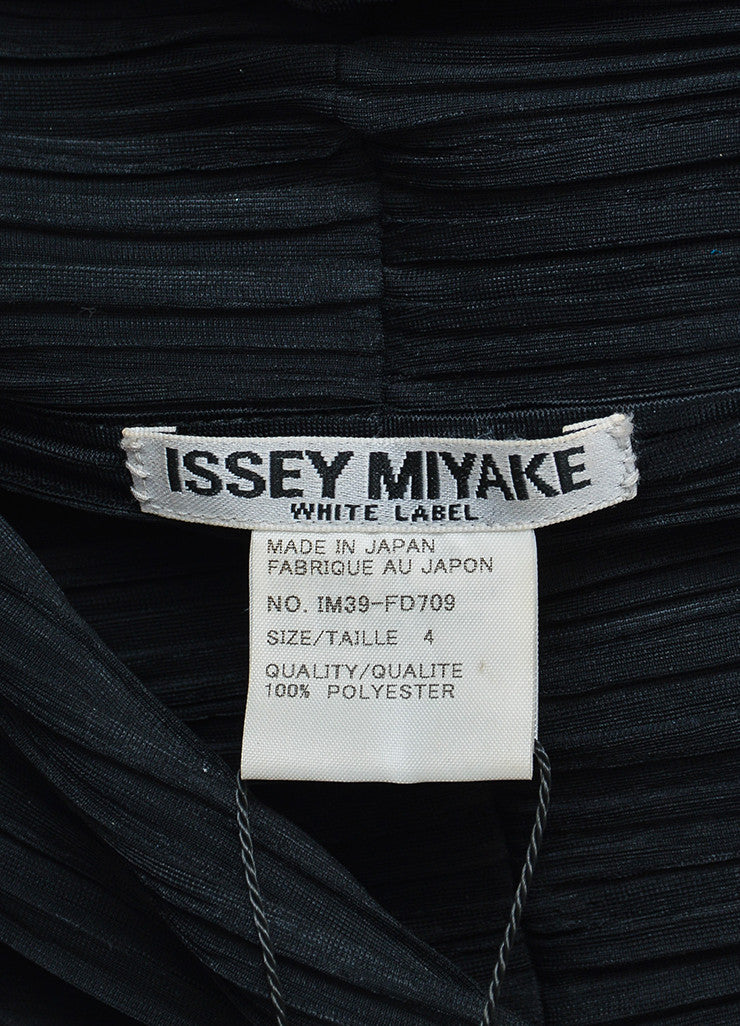 Black Issey Miyake White Label Pleated Open Draped Cardigan Brand