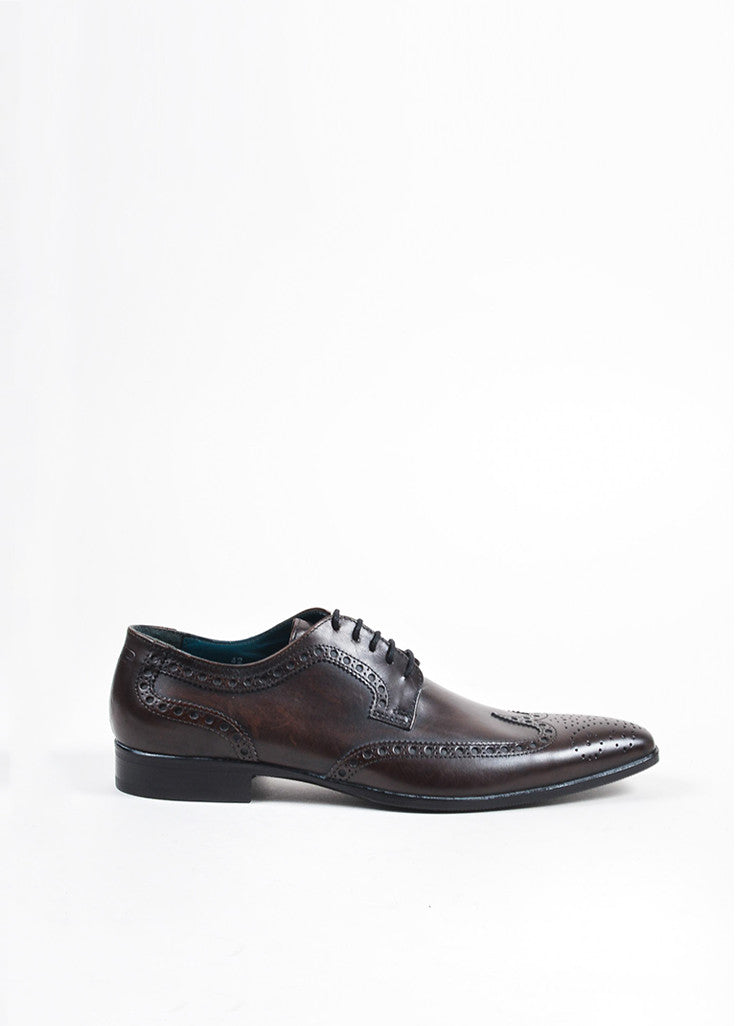 Men's Dolce & Gabbana Derby Lace Up Wingtips Brogues Sideview
