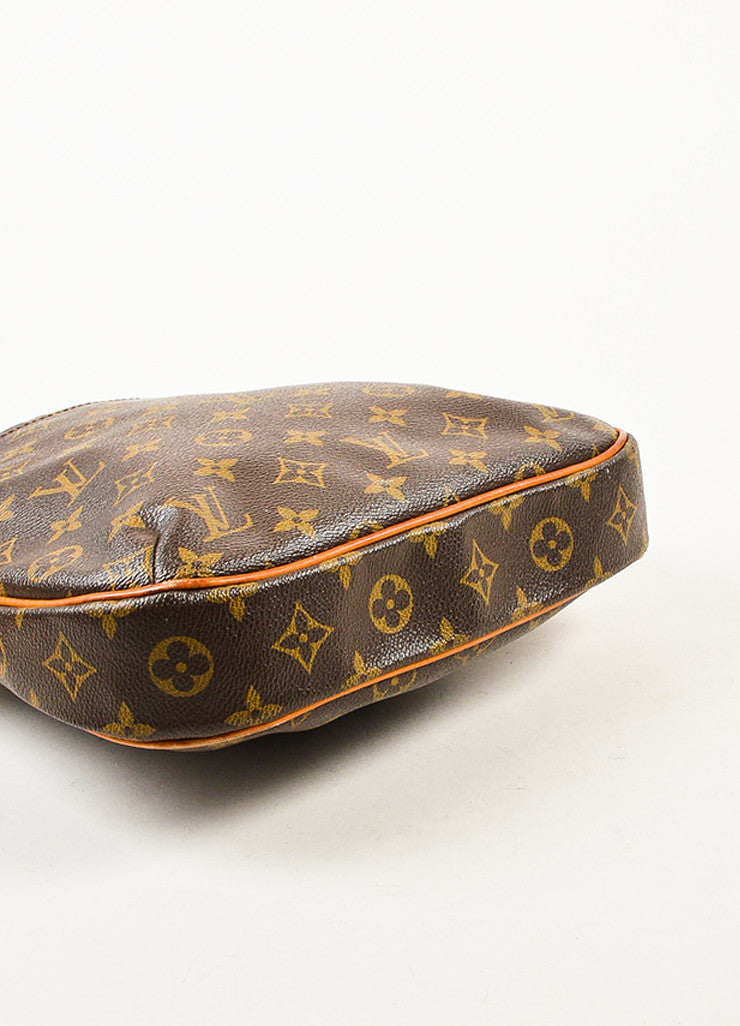 "Louis Vuitton Brown and Tan Monogram Canvas Leather Trim ""Odeon PM"" Shoulder Bag Bottom View"