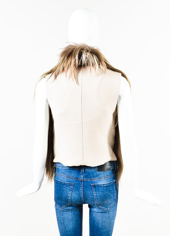 Maison Martin Margiela Tan Shaggy Goat Hair Vest Back