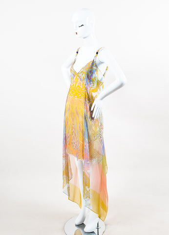 Emilio Pucci Pastel Multicolor Print Chiffon Mini Dress Side