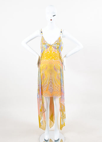 Emilio Pucci Pastel Multicolor Print Chiffon Mini Dress Front